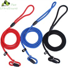 Pet Solid Nylon Lead Leash Control Restraint Cat Puppy Dog Soft Walk Size S-L Red Black Blue  Free Shipping