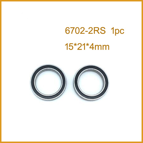 1PCS High quality ABEC 6702 2RS <font><b>6702RS</b></font> 6702-2RS 6702 RS 15x21x4 mm Miniature double Rubber seal Deep Groove Ball Bearing image