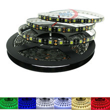 Led Light 5050 SMD 5M 60LEDs/m Black PCB IP20 IP65 Waterproof RGB White/Warm white/Blue/Red/Green Flexible Strip DC12V
