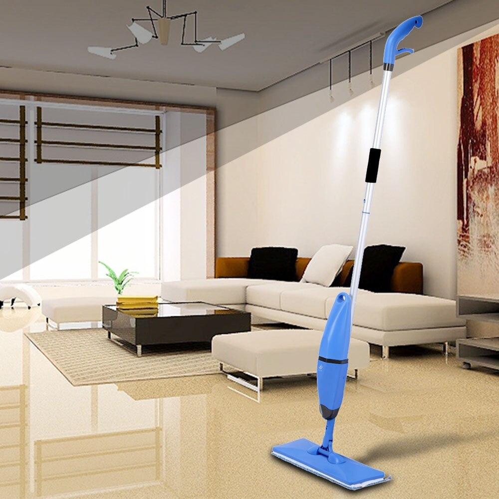 2 en 1 ménage pulvérisation et lavage vadrouille microfibre magique plat vadrouille plancher balayeuses Swob 360 degrés universel rotation vadrouilles en verre