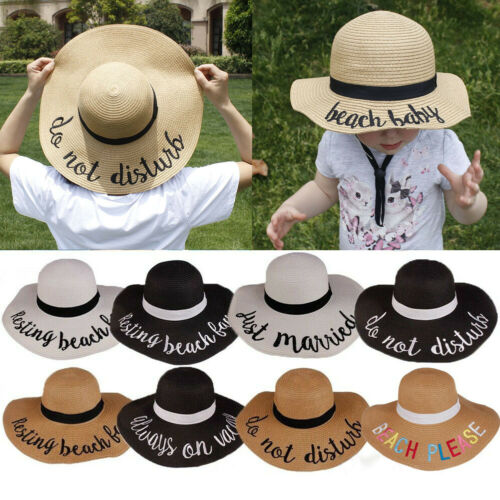 New Wide Large Brim Straw Cap Summer Beach Baby Girl Travel Floppy Sun Hat Foldable