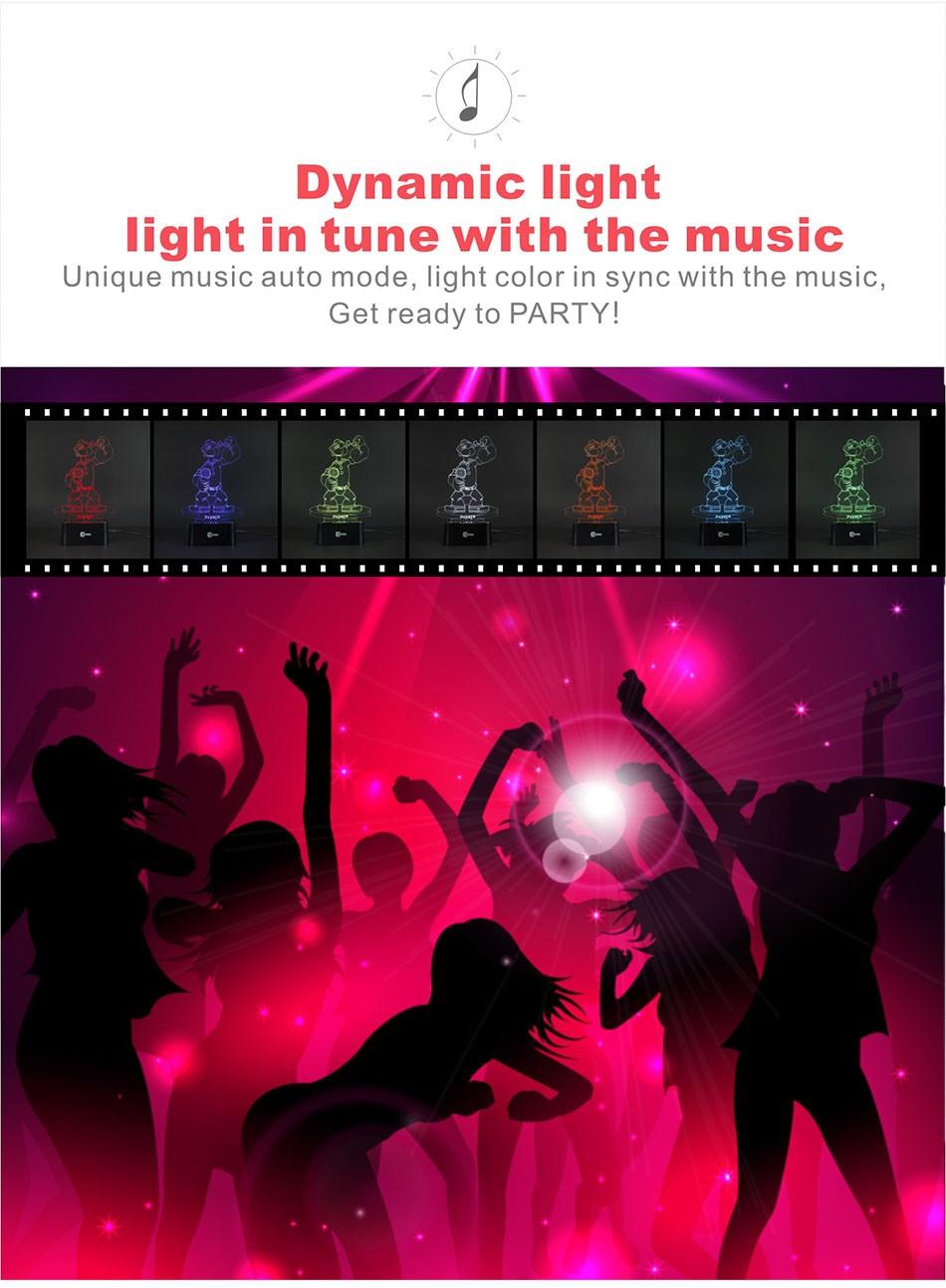 CNHIDEE Lampada Decorativa USB Desk 3D Night Lamp Bluetooth Music Led Table Lamp as Creative Gifts for Cartoon Popeye Fans (4)