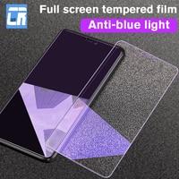 Anti-Luz Azul pantalla cristal Protector en El para Xiaomi 9 8 SE vidrio templado para Redmi 5 6 7 nota 7 8 9 10 Pro Protector de película