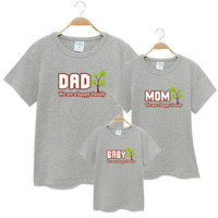 1 Pc New Family Look Owl Printed T Shirts 7 Colors Summer Family Clothes Father Mother