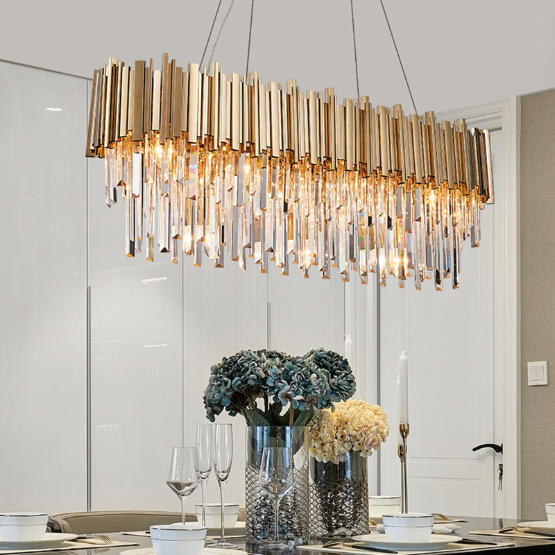 Us 728 0 New Luxury Crystal Chandelier Modern Lighting For Living Room Dinning Led Lights In Chandeliers From On Aliexpress