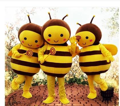 Halloween Party Costume Bee Mascot Costume Christmas Honeybee Cartoon Costume Adult Size