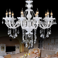 Beautiful Flower Home Decoration Crystal Chandelier Lighting Modern Crystal Chandeliers For Bedroom Crystal Candle Chandeliers