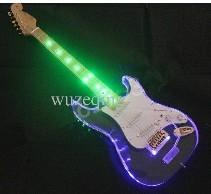 2015 Excellent Chinese electric guitar, a traditional timber, 22-fret guitar, Plexiglass LED,guitare