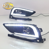 With Yellow Turning Function ABS Cover 12V Car DRL LED Daytime Running Light Daylight Lamp For