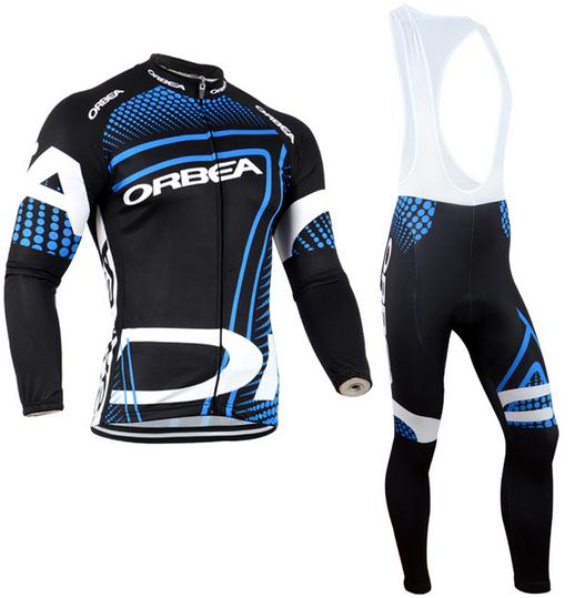 9D Silicone! Orbea 2018 long sleeve cycling jersey pants bicycle bike riding cycling autumn wear clothes set+gel pad