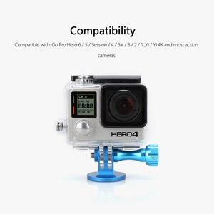Image 5 - Vamson Phụ Kiện Cho GoPro Hero 8 7 6 5 4 3 Núi CNC Nhôm Hợp Kim Tripod Adapter Cho Xiaomi Yi 4K Cho EKEN Cho SJCAM VP124