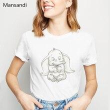 Dumbo The Sdorable Elephant Sketch Print T-Shirt women clothes 2019 vogue funny t shirt femme tumblr tops tee female t-shirt