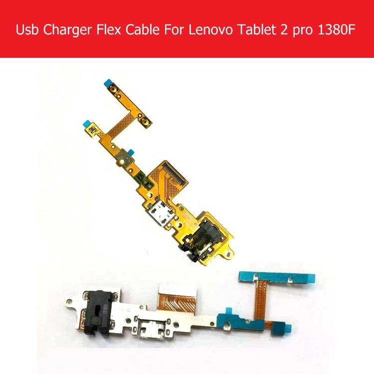 Genuine USB Charger Connector Flex Cable For Lenovo Yoga tablet 2 Pro 1380F USB Charging Flex Cable Blade2_13A_USB_FPC_h201 100% new usb charging charger port dock connector flex cable replacement for lenovo a859