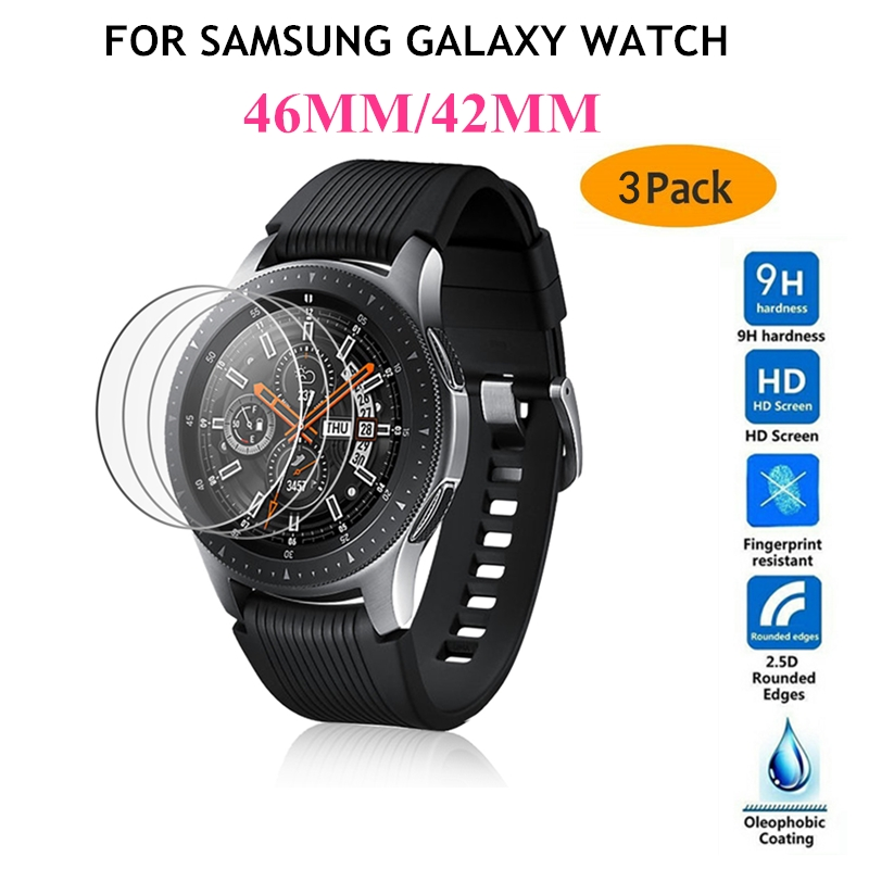 New Tempered Glass Screen Protector For Samsung Galaxy Watch 46MM 42MM Protective Glass Film For Galaxy Watch Watch Band Gear S3