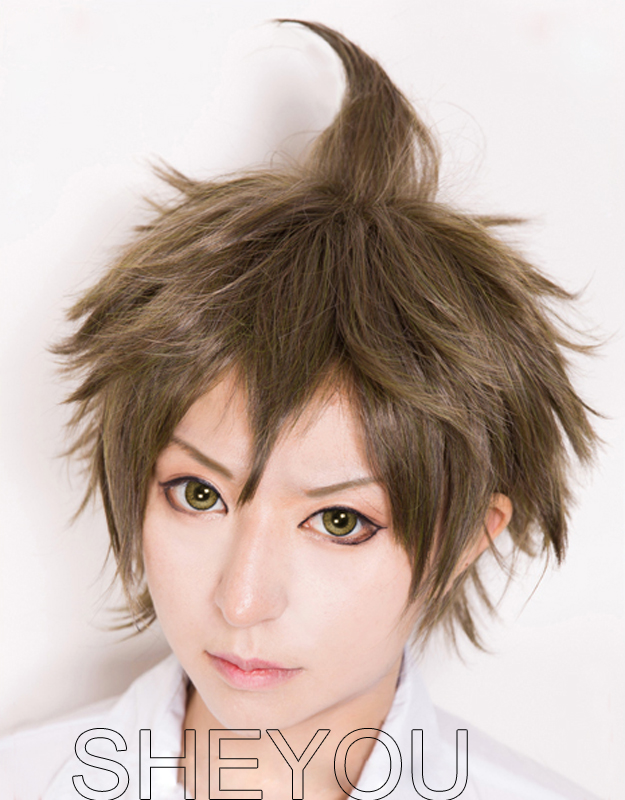 Super Dangan Ronpa 2 <font><b>Danganronpa</b></font> Hajime Hinata Wig Heat Resistant Synthetic Hair <font><b>Cosplay</b></font> Wig image