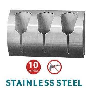 Strong Self Adhesive Triple Towel Holder Towel Rack Stainless Steel Coat Hook Eruopan Bathroom Accessories Wall Hanger Hat Hook цена 2017