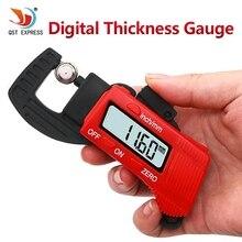 Best price QSTEXPRESS New 0-12.7mm Carbon Fiber Composites Digital Thickness Caliper Micrometer Guage