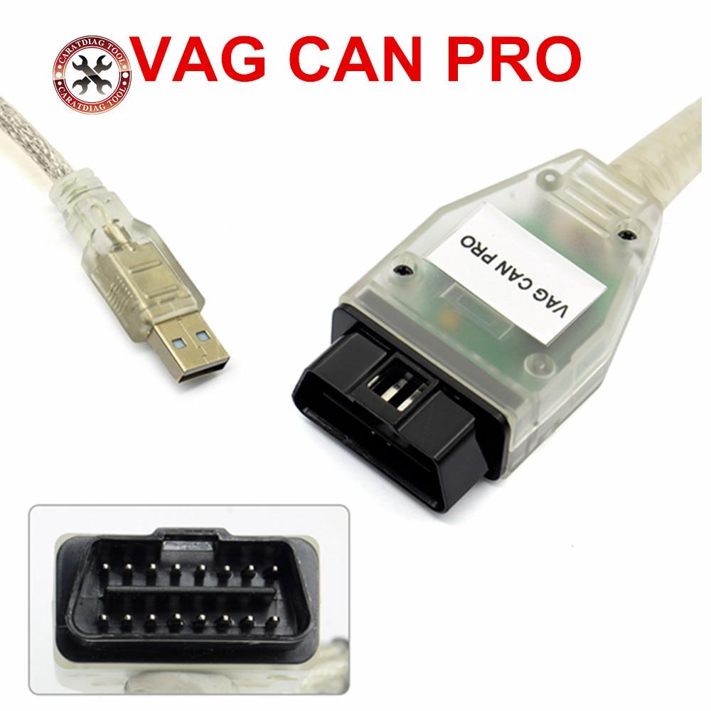 VAG CAN PRO-escáner CAN BUS + UDS + k-line S.W, versión 5.5.1, VCP, para Audi,VW, etc. con varios idiomas, 2018 Original, envío gratis