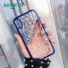 AKBKTII for iPhone 8 case Diamond Cove For 7 Plus Case 6s X XS Max XR Transparent Soft TPU Back Capa Covers Fundas