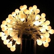 Строка праздник огней 5 М 50led 3 М 30led 10 м 80led АА батареи работают светодиодные открытый Партия Рождественские украшения свет строка