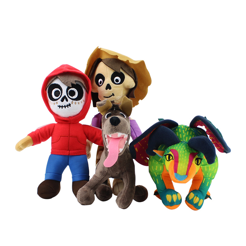 4styles Movie COCO Plush Toys New Coco Miguel Hector Plush Stuffed Soft Doll Toys Cute Gifts For Kids Baby Gifts