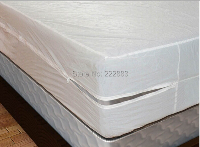 2018 Russian Size 160*200cm Zippered Smooth Waterproof Mattress Encasement Bed Bug Proof protect a bed Anti mite and allergy-in Mattress Covers & Grippers from Home & Garden    3