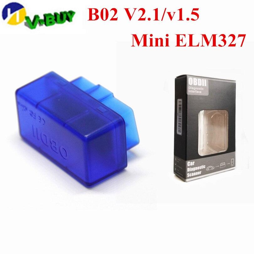 Obd2 Bluetooth V01b2 Super Mini ELM327 V1.5 Bluetooth Adapter ELM 327 Auto Excellent Scanner Diagnostic Tool For Android V01L2