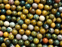 Wholesale 2 Strands Lot Natural 10mm Ocean Jasper Round Beads Stone