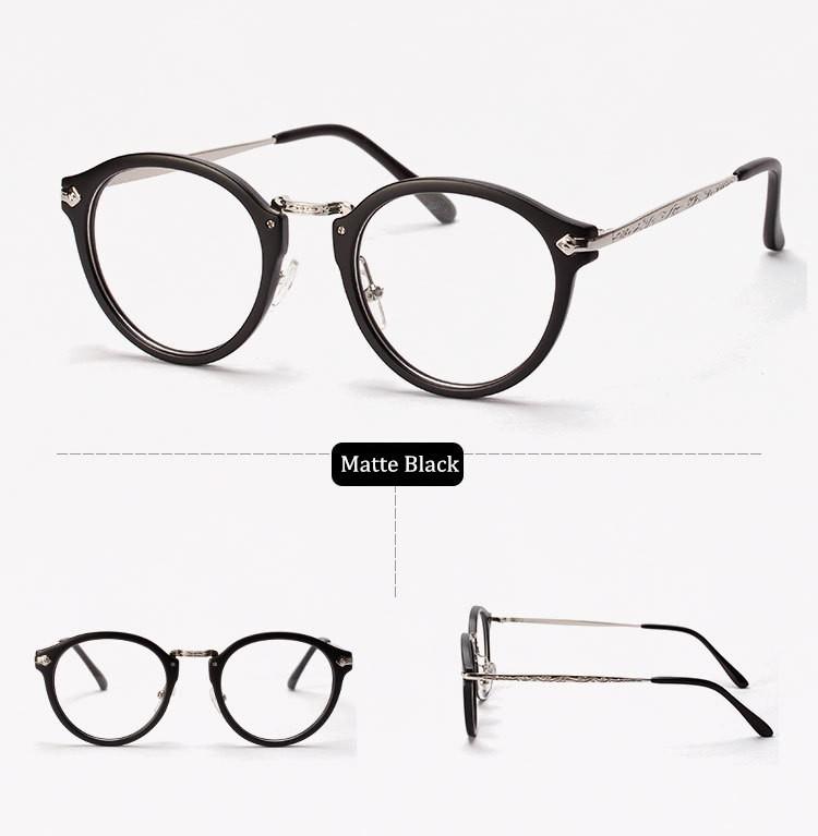 91e5c7bfb4ec Korea Star Fashion Eyeglasses Retro Round Glasses Spectacle Frame Eye  Glasses Frames for Women and Men. 1.