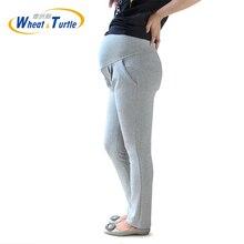 2019 New Arrival Designer Good Quality Light Grey Cotton Maternity Winter Leggings Comfortable Warm leggings For Pregnant Women