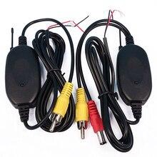 Cópia De Segurança Do Carro de Estacionamento sem fio 2.4 Ghz de Vídeo RCA Transmissor e Receptor Kit para Carro Rear View Camera Reversa Auto Monitor de DVD