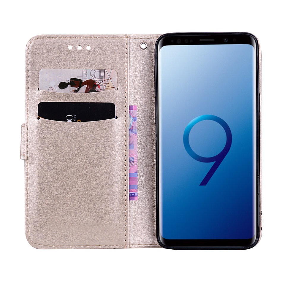 Cases For Samsung Galaxy S9 S8 A8 Plus 2018 S7 S6 Edge A3 A5 j3 j5 j7 2017 2016 2015 Leather Phone Case Butterfly Cover P03F in Flip Cases from Cellphones Telecommunications