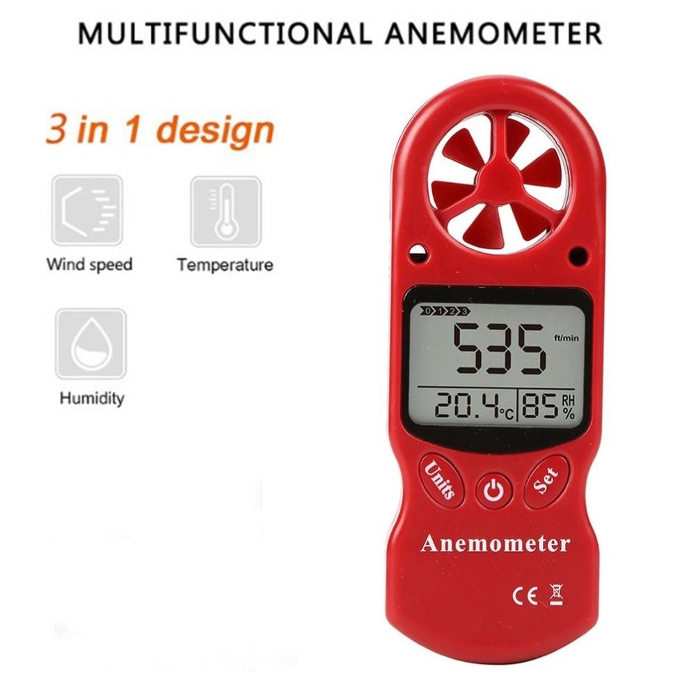 Mini Multipurpose Digital Anemometer with LCD Display Used as Wind Speed Meter 1
