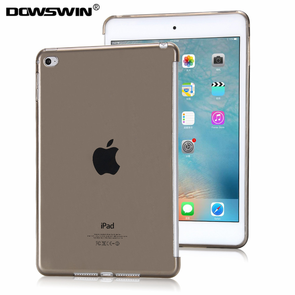 For iPad air 2 Case crystal transparent soft tpu bottom cover for iPad 6 protective shell back protector with free gift tpu case cover for ipad air