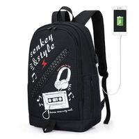 fashion anti theft travel men backpack with USB charging port high quality oxford school bags for teenage boys college student