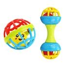 <+>  2 шт. / Лот Детские Погремушки Игрушки Новорожденных 0-12 Месяца Пластиковый Колокольчик Мягкий Мяч  ✔
