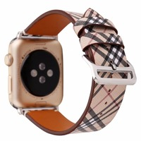 Classic Brand Leather Watch Band For Apple Watch Iwatch 38 42mm Series 1 2 3 Men