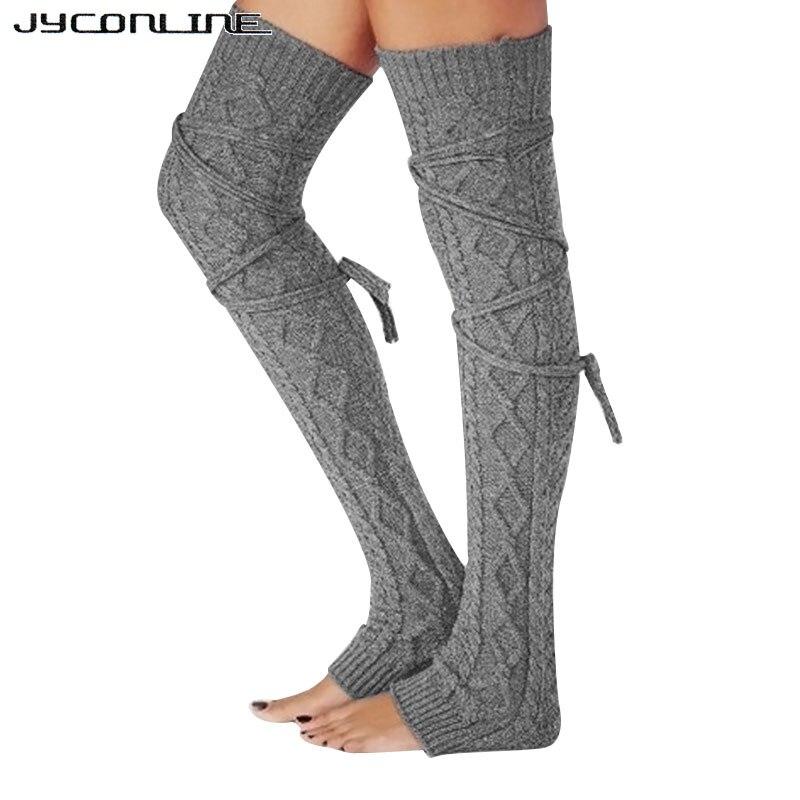 Jyconline Invierno Caliente larga Calentadores para piernas tejer ...