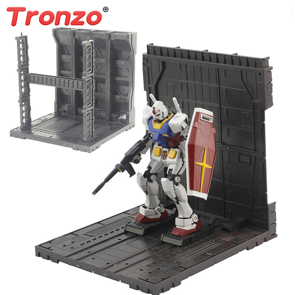 US $9 26 32% OFF|Tronzo Action Figure Accessories Universal Gundam HANGAR  Model Figure Display Garage Robot Collection Assemble Figurine Toys-in