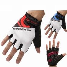 ROBESBON Men MTB Cycling font b Gloves b font Half Finger Anti slip Silica Gel Short