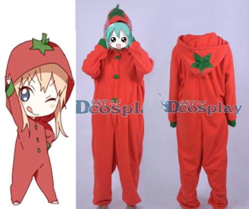 YuruYuri  Kyoko Toshino Tomato Red Sleepwear Nightclothes Cosplay Costume Unisex
