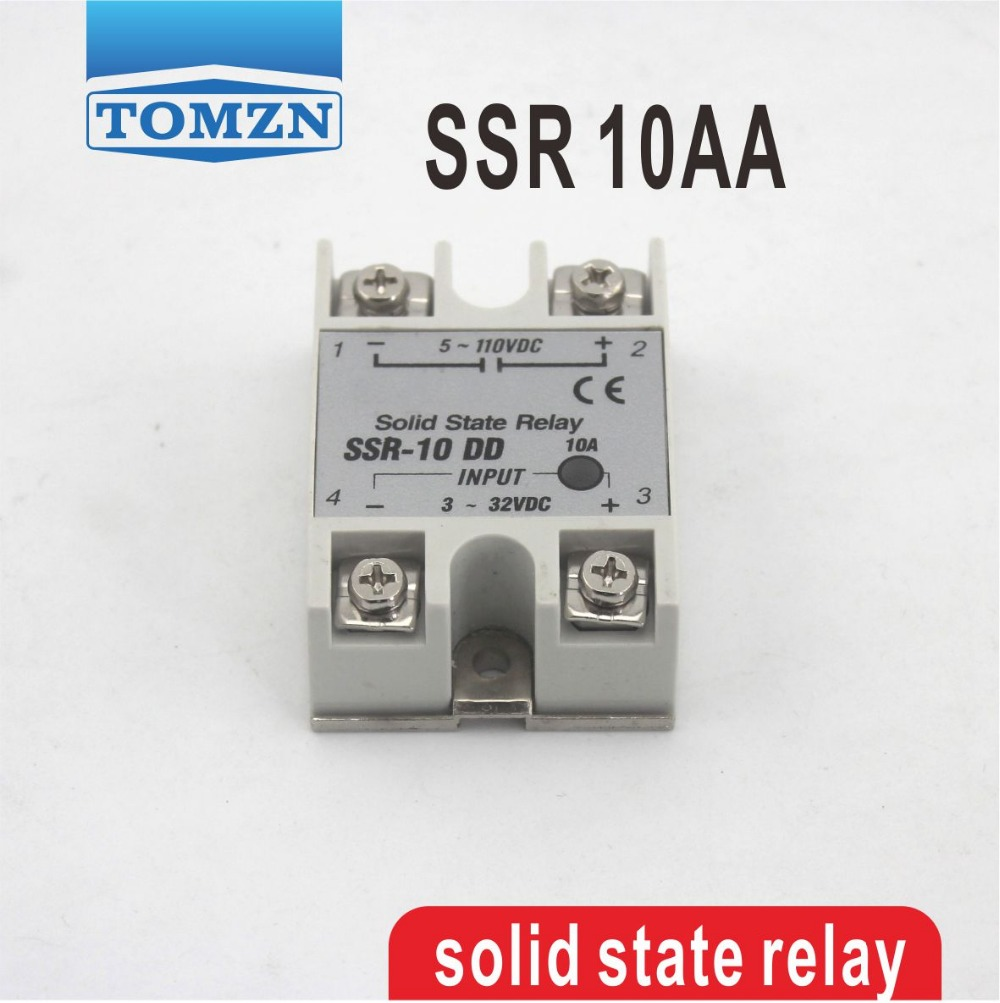 10AA SSR input 80-250V AC load 24-380V AC single phase AC solid state relay high quality ac ac 80 250v 24 380v 60a 4 screw terminal 1 phase solid state relay w heatsink