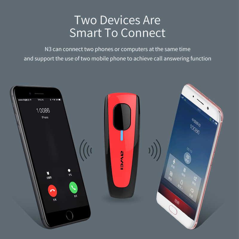 AWEI N3 Bluetooth наушники беспроводные наушники беспроводная гарнитура для телефона Hands Free Auriculares Kulakl k Fone de ouvido