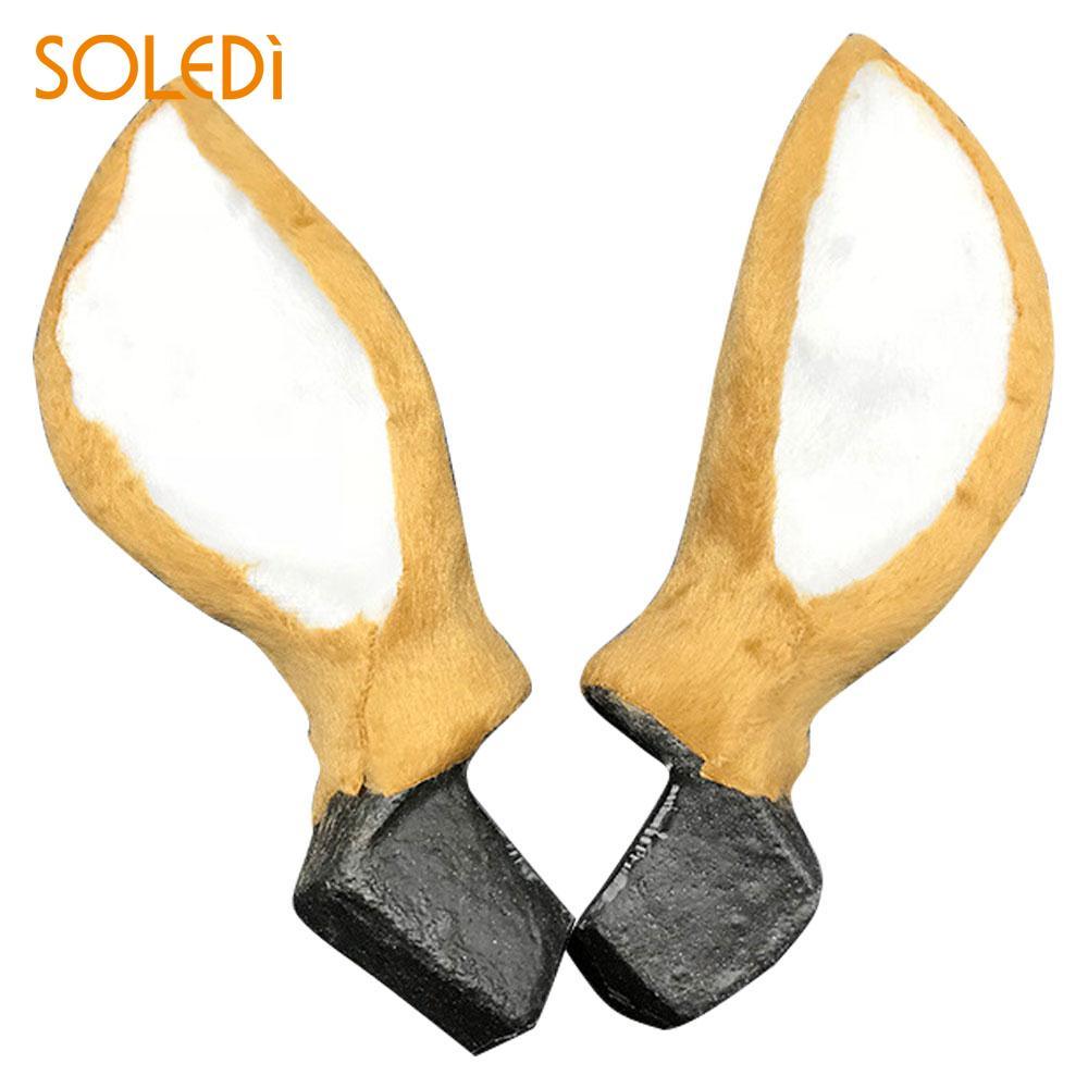Simulation Deer Ears Christmas Reindeer Ears Simulated Plush Plastic ...