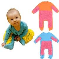 2018new Bebek Paspas Romper Kıyafet Unisex Bebe Çocuk Kız Parlatır Zeminler Temizlik Paspas Suit Bebek Yürüyor Swob Tarar Tulum