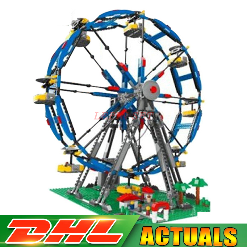 Lepin 15033 1170Pcs Genuine Building Series The Three-in-One Electric Ferris Wheel Set Building Blocks Bricks Toys Model 10247 time series model building on climate data in sylhet