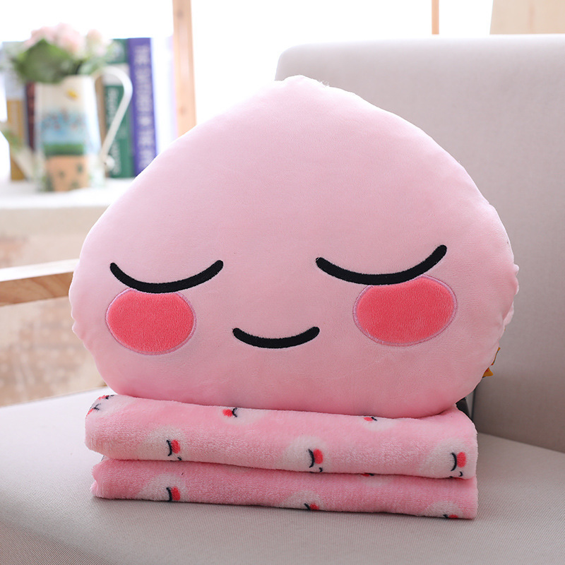 1P Kakao Friends Pillow Ryan Cocoa Plush Doll Toy Stuffed Toys Ryan Car Cushion Pillow With Blanket Insider LovesTravel Gift