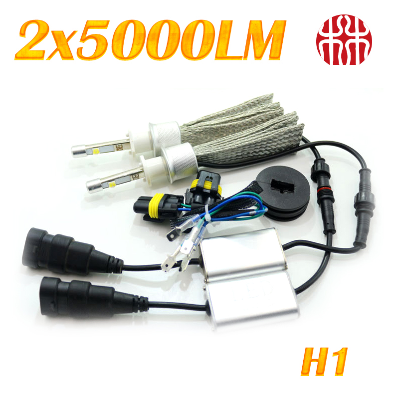 All in One N9 12V 2X50W 10000LM Superbright Car Front  LED Headlight H1/H3/H4/H7/H11/9005/9006 With Copper heat Conduction 2 w p w v p10000 10000 waka ddc12