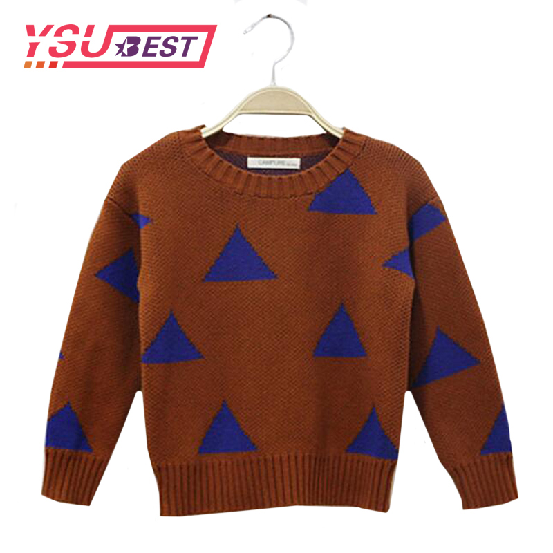 2019 Spring Baby Girls Boys Sweaters Spring Children's Clothing Fashion 1-5Yrs Children's Sweater Kids Choses Triangle Clothing