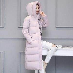 Высококачественное теплое плотное Женское пальто, зимнее женское пальто с капюшоном и хлопковой подкладкой, женские зимние куртки, длинная...